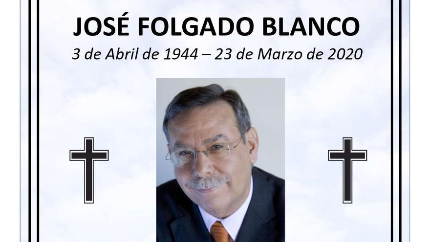 Morales del Rey recuerda a José Folgado con un funeral el próximo sábado 19 de septiembre