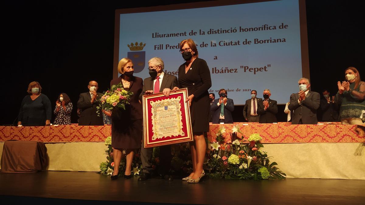 José Pascual Ibáñez, 'Pepet', recibe formalmente el título de Hijo Predilecto de Burriana