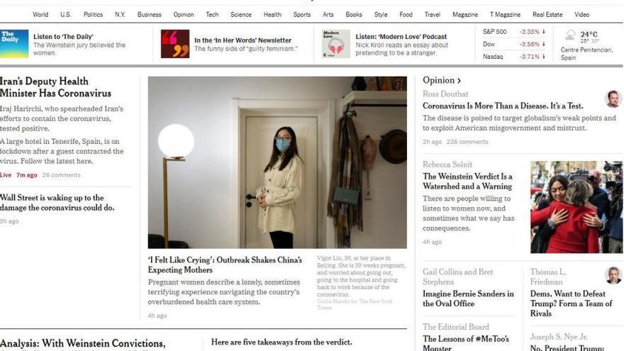 El aislamiento en el hotel de Tenerife, portada en medios de todo el mundo