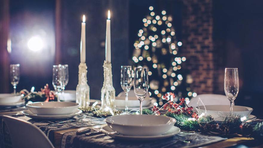 Ideas para decorar la mesa en Nochebuena