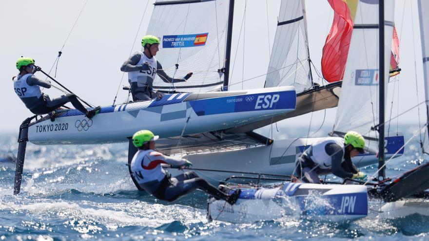 El Nacra 17 español se clasifica para la Medal Race con opción de bronce