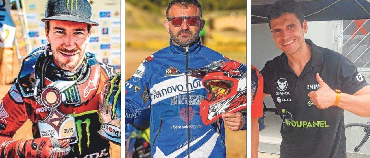 Los tres valencianos del Dakar
