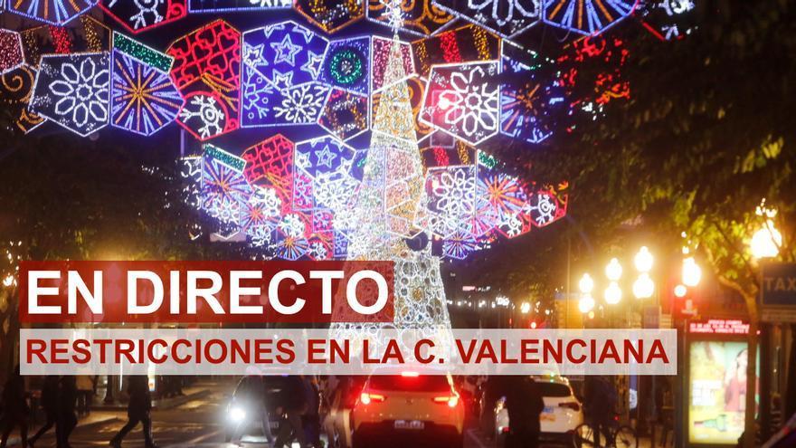 DIRECTO | Última hora de las nuevas restricciones para Navidad en la Comunidad Valenciana y el cierre perimetral