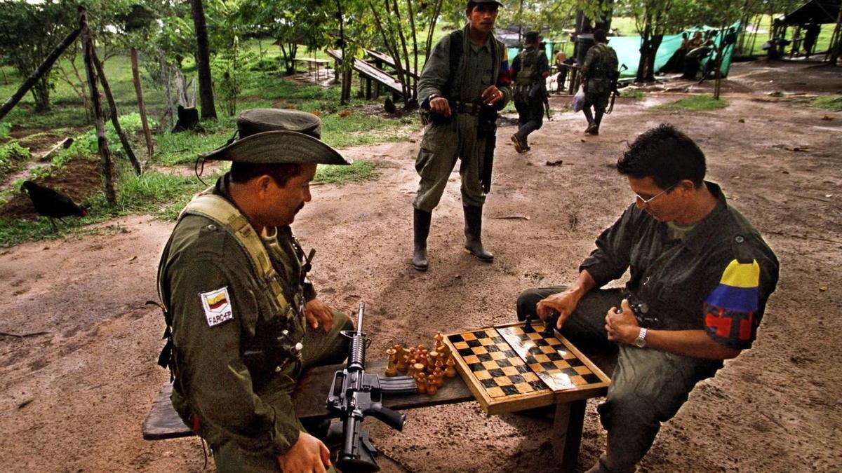 Un grupo de guerrilleros de las ya disueltas FARC.