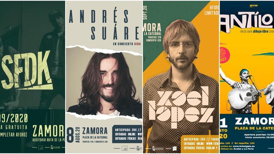 SFDK, Mägo de Oz, Xoel López, Andrés Suárez y Antílopez actuarán en Zamora