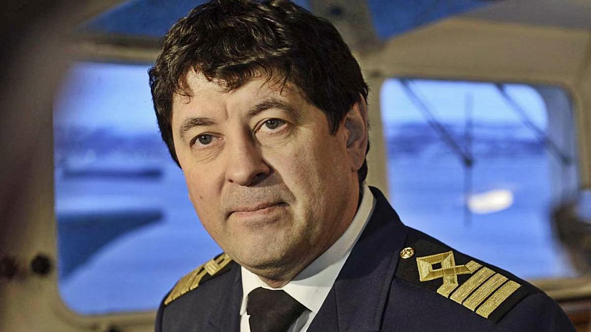Farid Gabbasov, capitán del Sevmorput, evacuado el miércoles por una infección al Hospital grancanario Doctor Negrín.