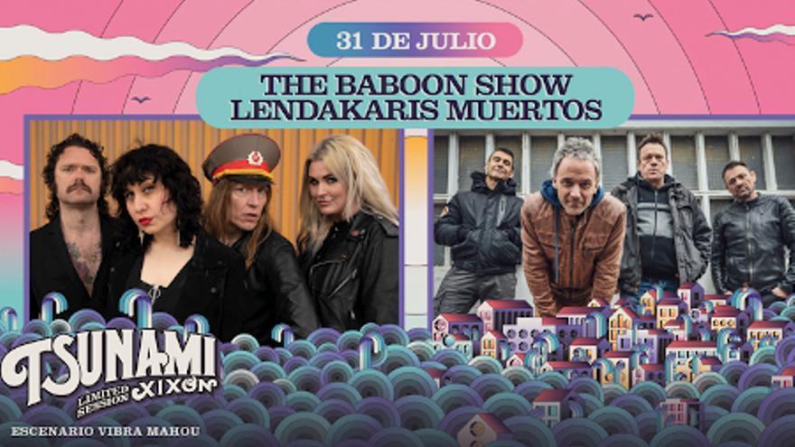 Tsunami Xixón Limited Session: The Baboon Show / Lendakaris Muertos