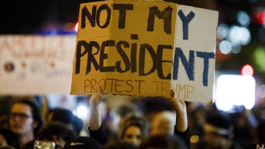 Protestas en Nueva York contra Trump