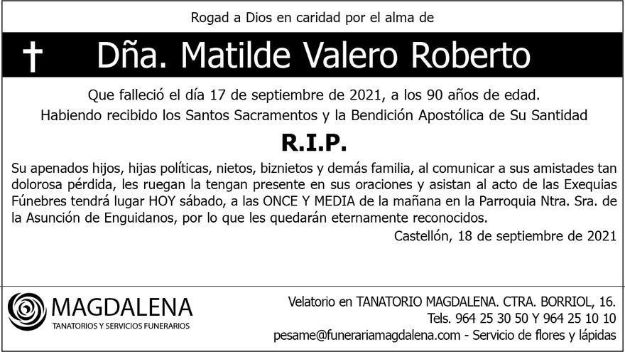 Dª. Matilde Valero Roberto