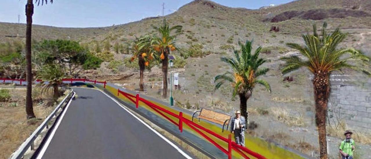 Agaete promueve un sendero turístico hasta Los Berrazales