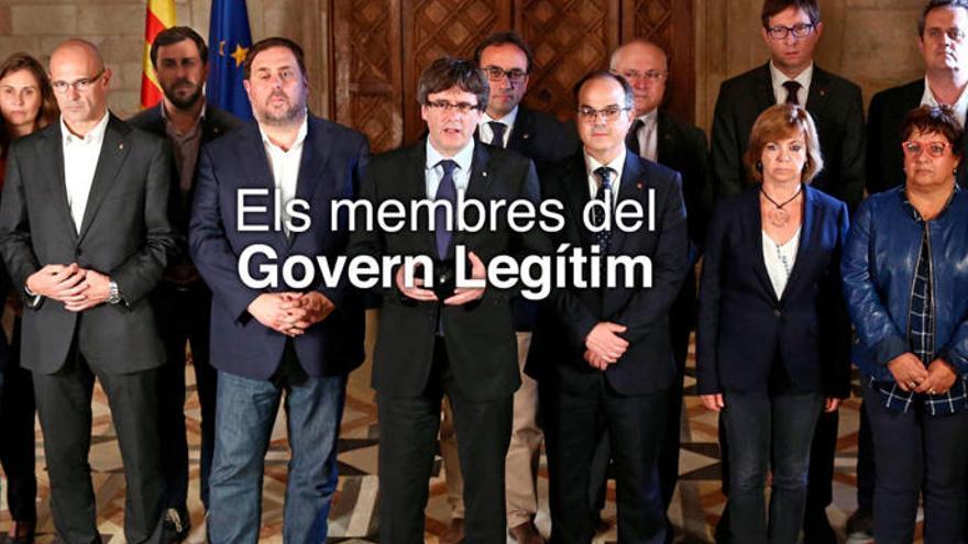 "Borran a Santi Vila de la foto del ""Govern legítimo"""