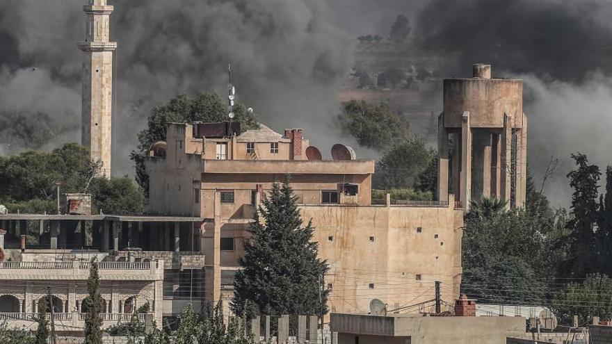 La ciudad siria de Ra's al-'Ayn, en el distrito de Ceylanpinar.