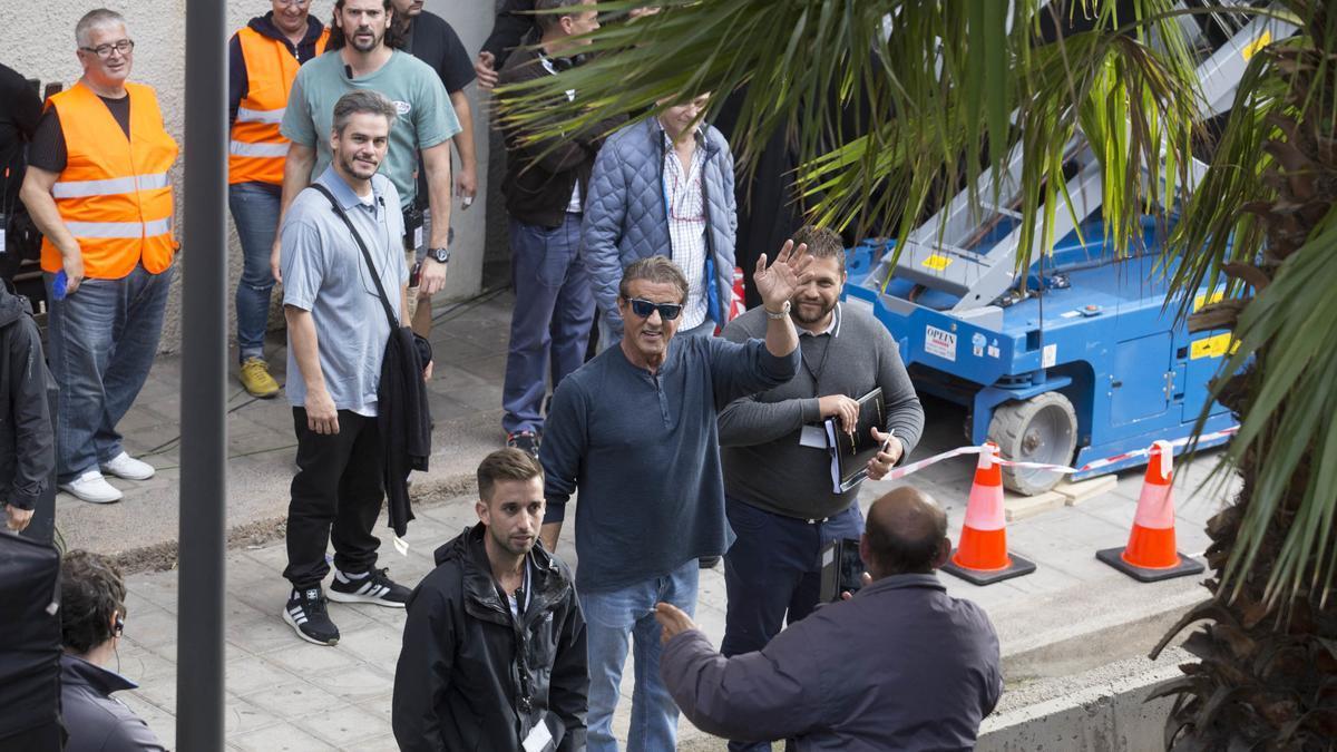 Rodaje de la película 'Rambo V' en Santa Cruz de Tenerife.