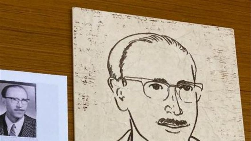 Un grabado de mármol para recordar al científico Alberto Sols de Sax