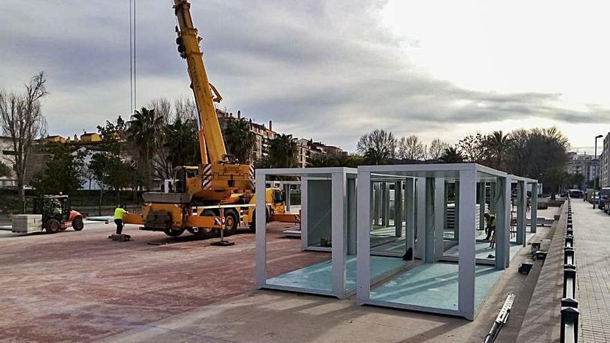 Canals instala los barracones    para edificar el nuevo instituto