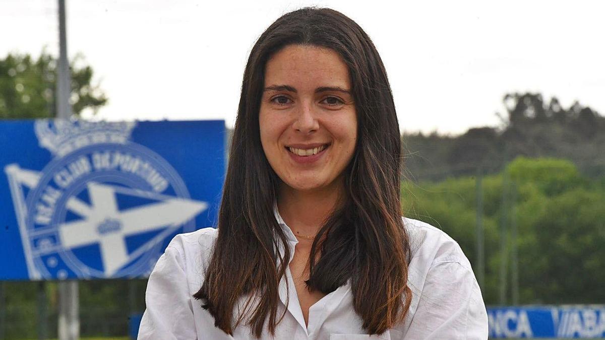 Marisol Arias, ayer en la ciudad deportiva de Abegondo. |  // CARLOS PARDELLAS