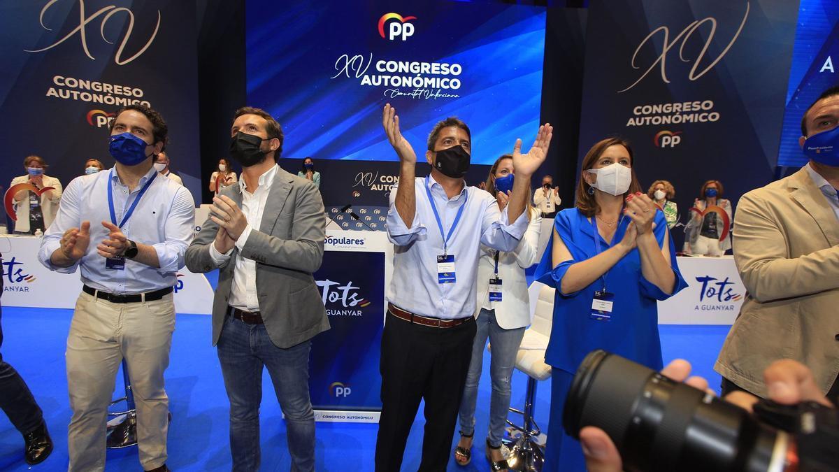 Las imágenes del congreso regional del PP celebrado en el Palau de Les Arts Reina Sofía