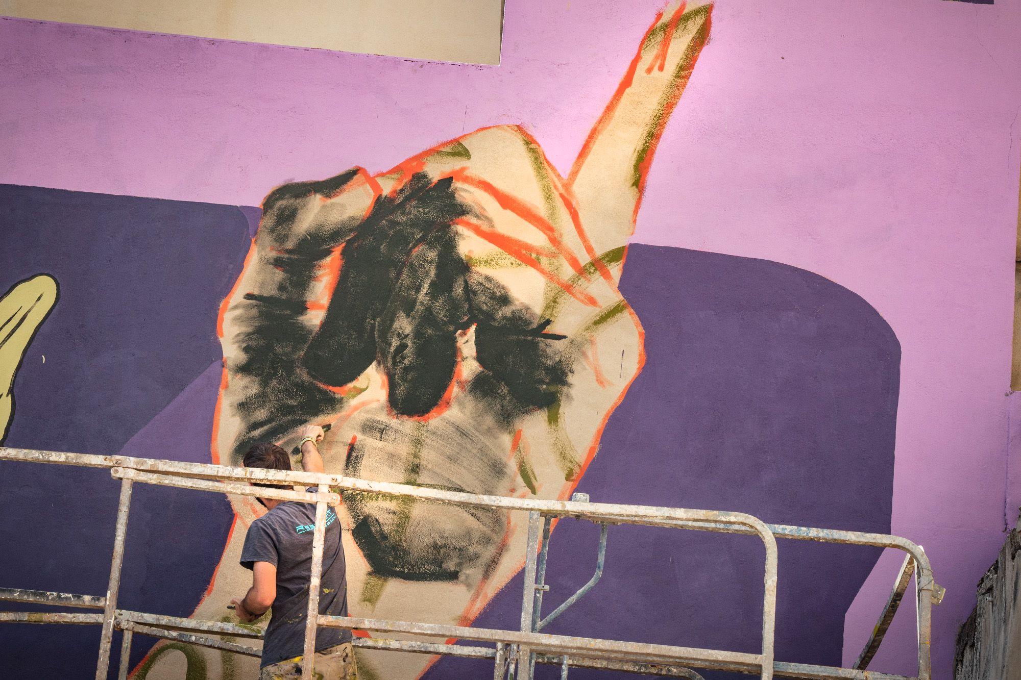 Un mural en Bigastro para homenajear la inventiva de las mujeres en la historia