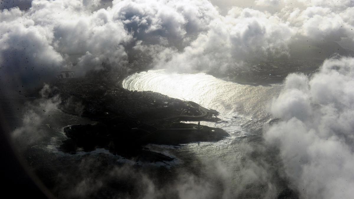 Vista aérea de A Coruña.