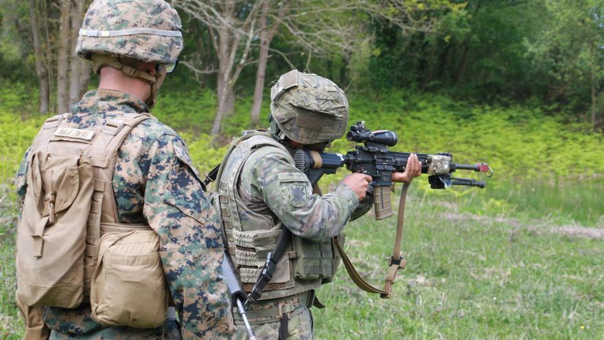 La Brillat colabora con el Cuerpo de de Marines norteamericano en maniobras conjuntas