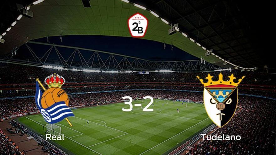 La Real Sociedad B vence 3-2 en casa al Tudelano
