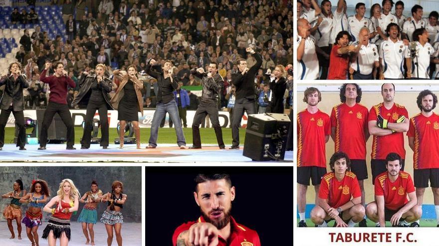 """De los """"triunfitos"""" al Waka Waka: las canciones que acompañaron a la selección española en Eurocopas y Mundiales"""
