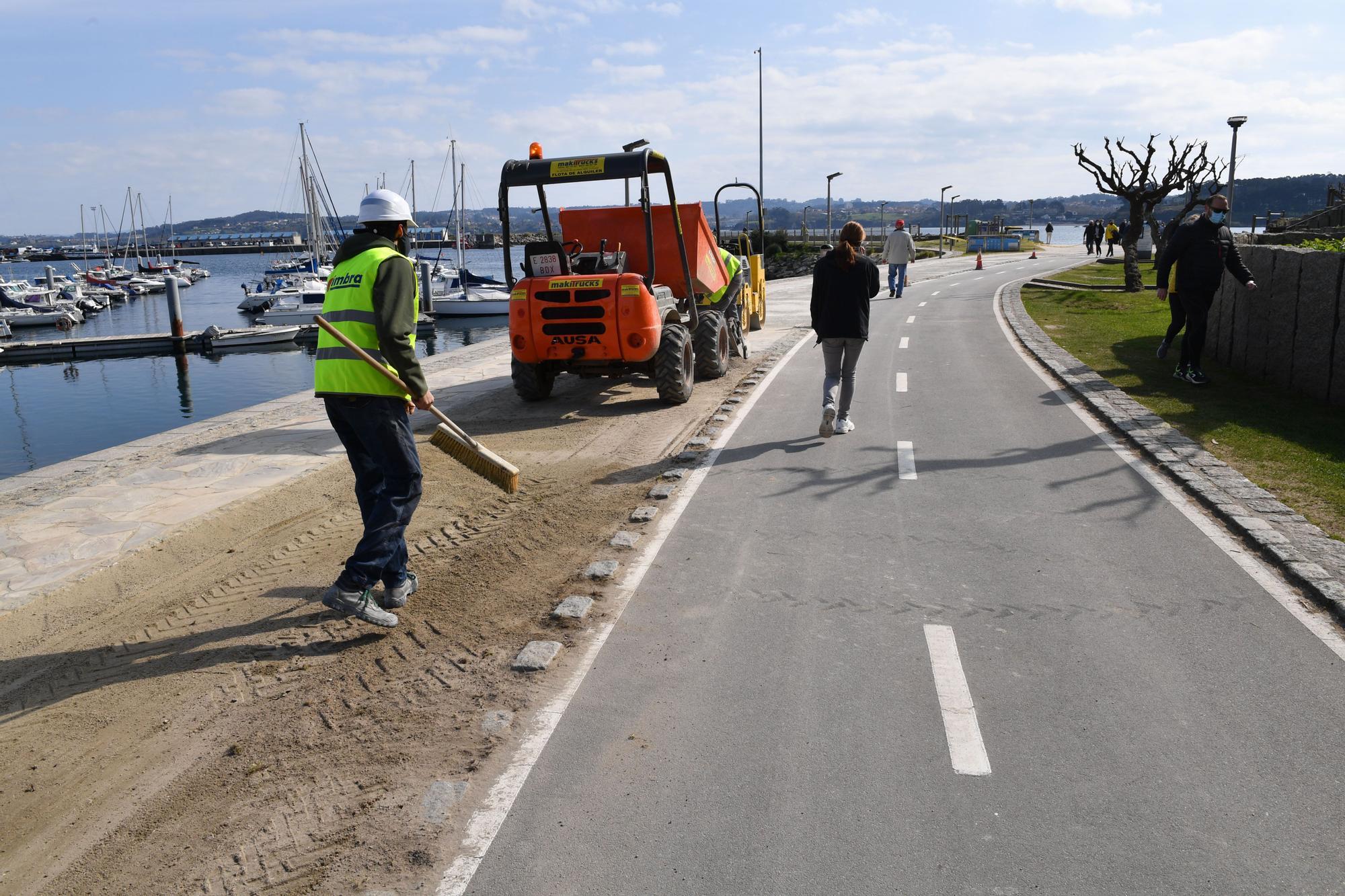 Obras en los paseos de acceso a las playas