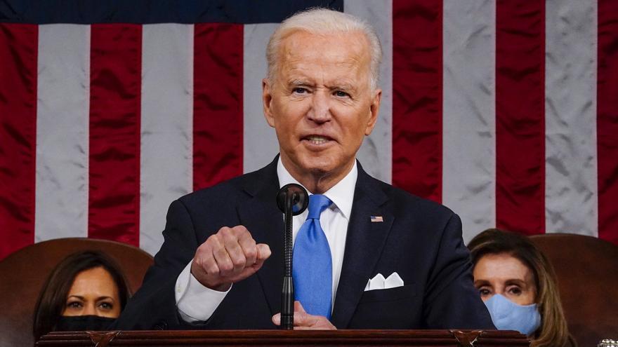 Biden anuncia una ruptura total con la política de Trump en su discurso por los 100 días de gobierno