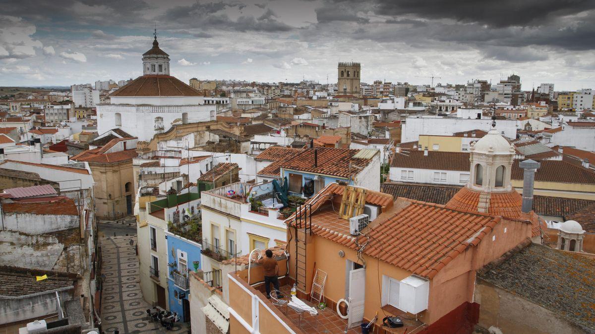 Vista general del Casco Antiguo de Badajoz.