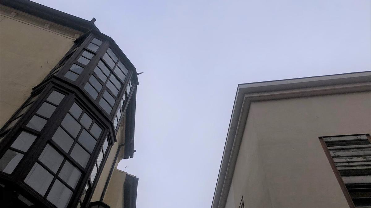 Cielo nublado en Zamora esta mañana.