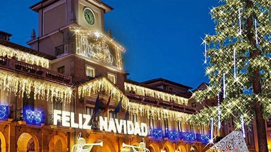 Oviedo ultima su Navidad más luminosa, con récord de luces en 240 calles y plazas