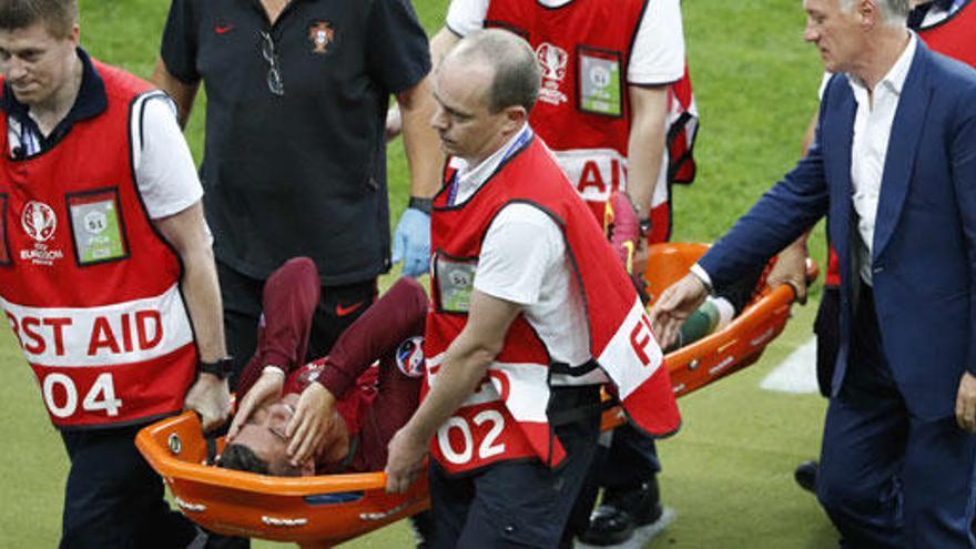 Cristiano, duda para la Supercopa por un esguince