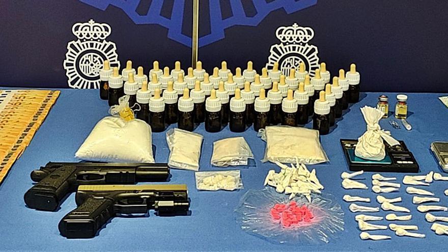 Detienen a dos narcos en Palma con tres kilos de drogas de síntesis para venderlas en fiestas