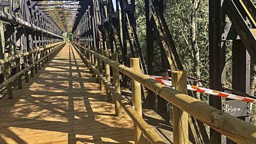 El Gobierno olvida a la Diputación y pide a los municipios que mantengan la Vía Verde