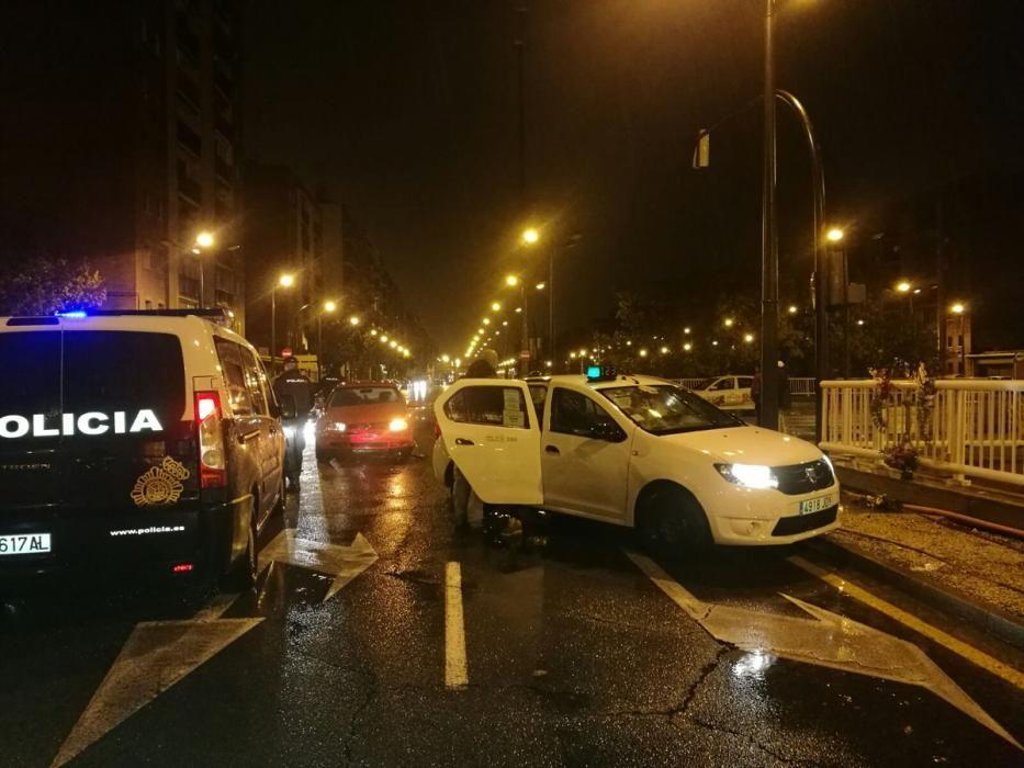 Accidente registrado en la avenida del Cid