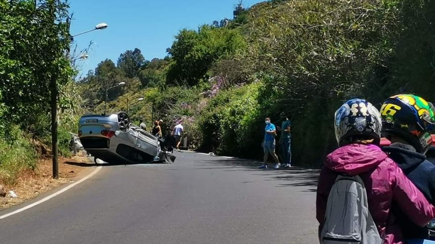 Tres heridos por un accidente de tráfico en San Mateo