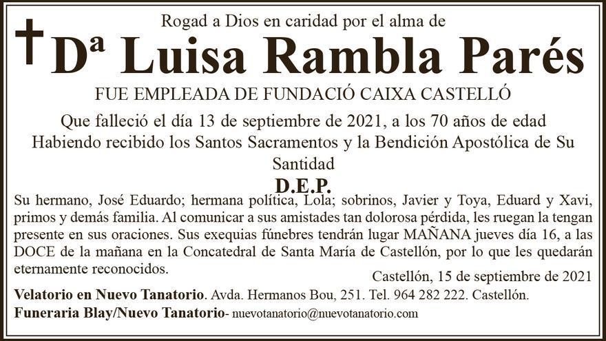 Dª Luisa Rambla Parés