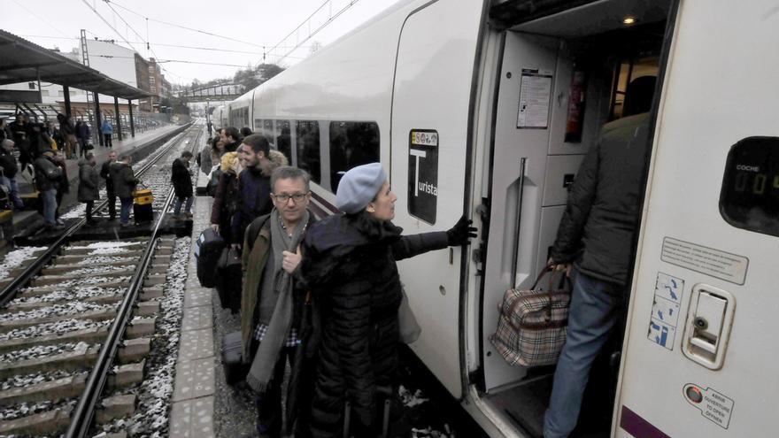 El tren entre Mieres y Lena estará cortado dos días
