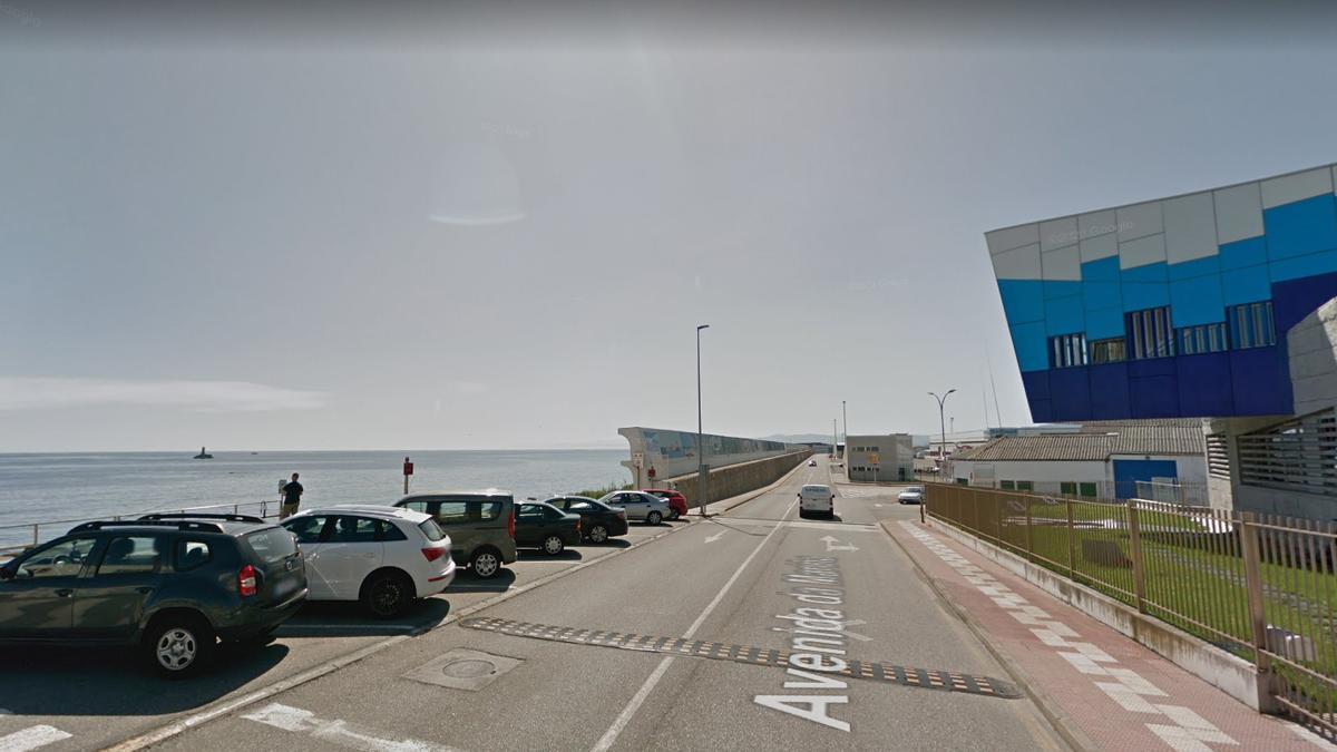 Vista del puerto de Burela