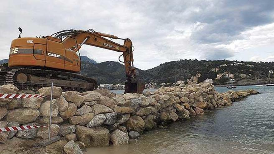 Amplían el espigón  del paseo marítimo  del Port de Sóller