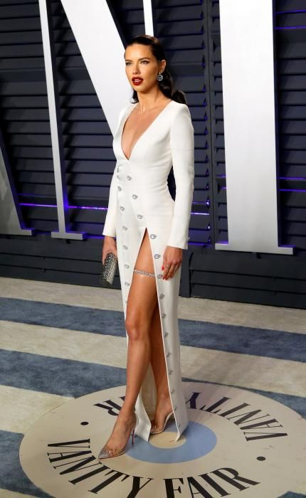 Adriana Lima, en la fiesta post Oscars 2019