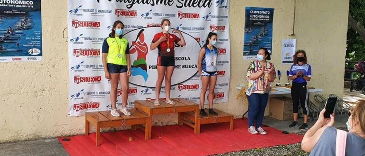Uno de los podios femeninos con representación ribereña. | LEVANTE-EMV