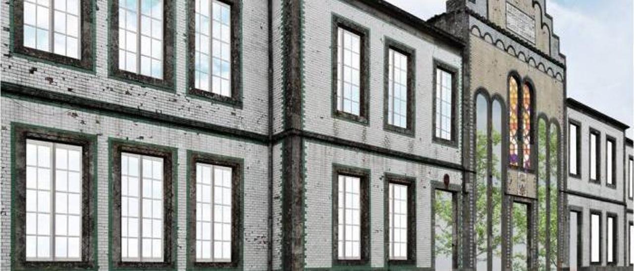 Anteproyecto de reforma del antiguo colegio Carmelitas, donde se ubicarán las 30 viviendas. |   // D.P.