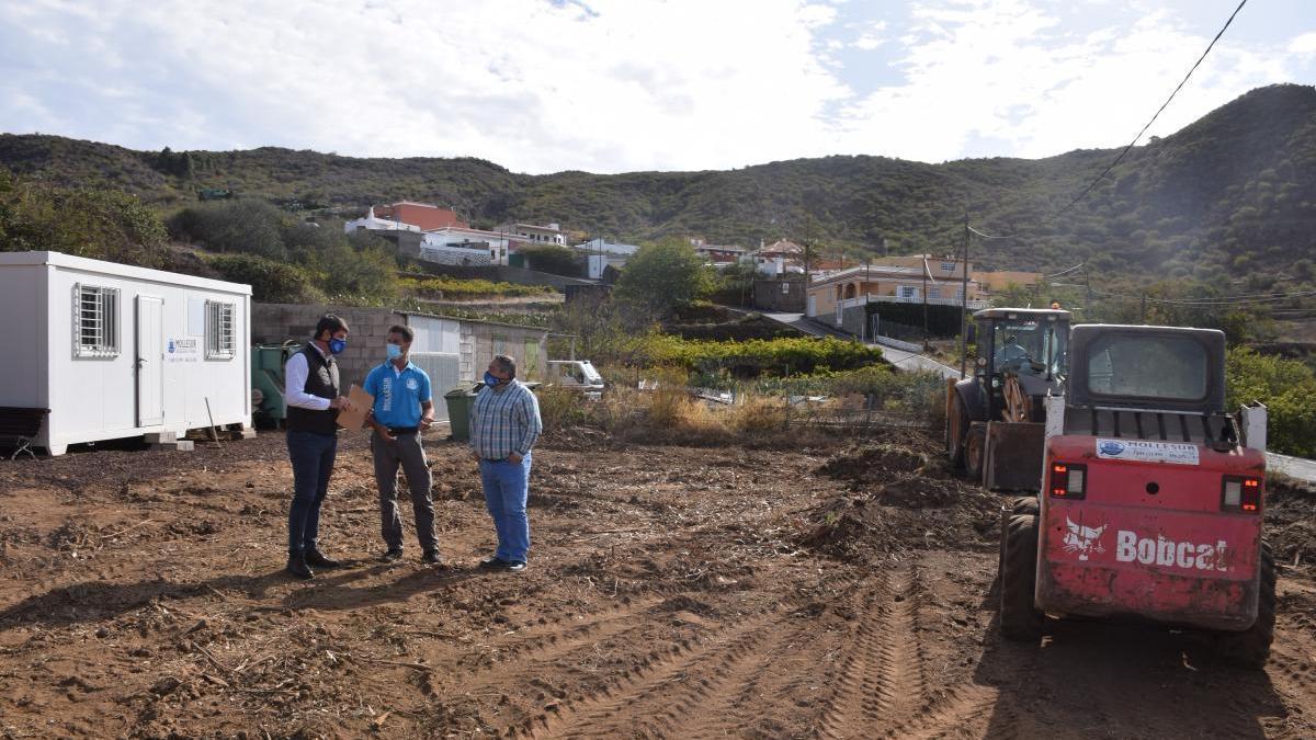 Se inician las obras de urbanización entre el Camino Real y la Calle San Fernando en Valle de Arriba