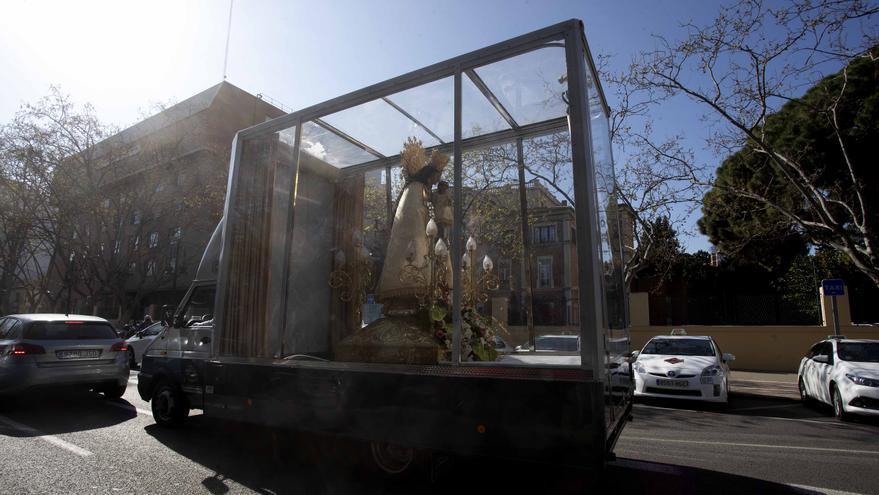 """La Virgen de los Desamparados irá con el """"Maremóvil"""" a pueblos de l'Horta"""