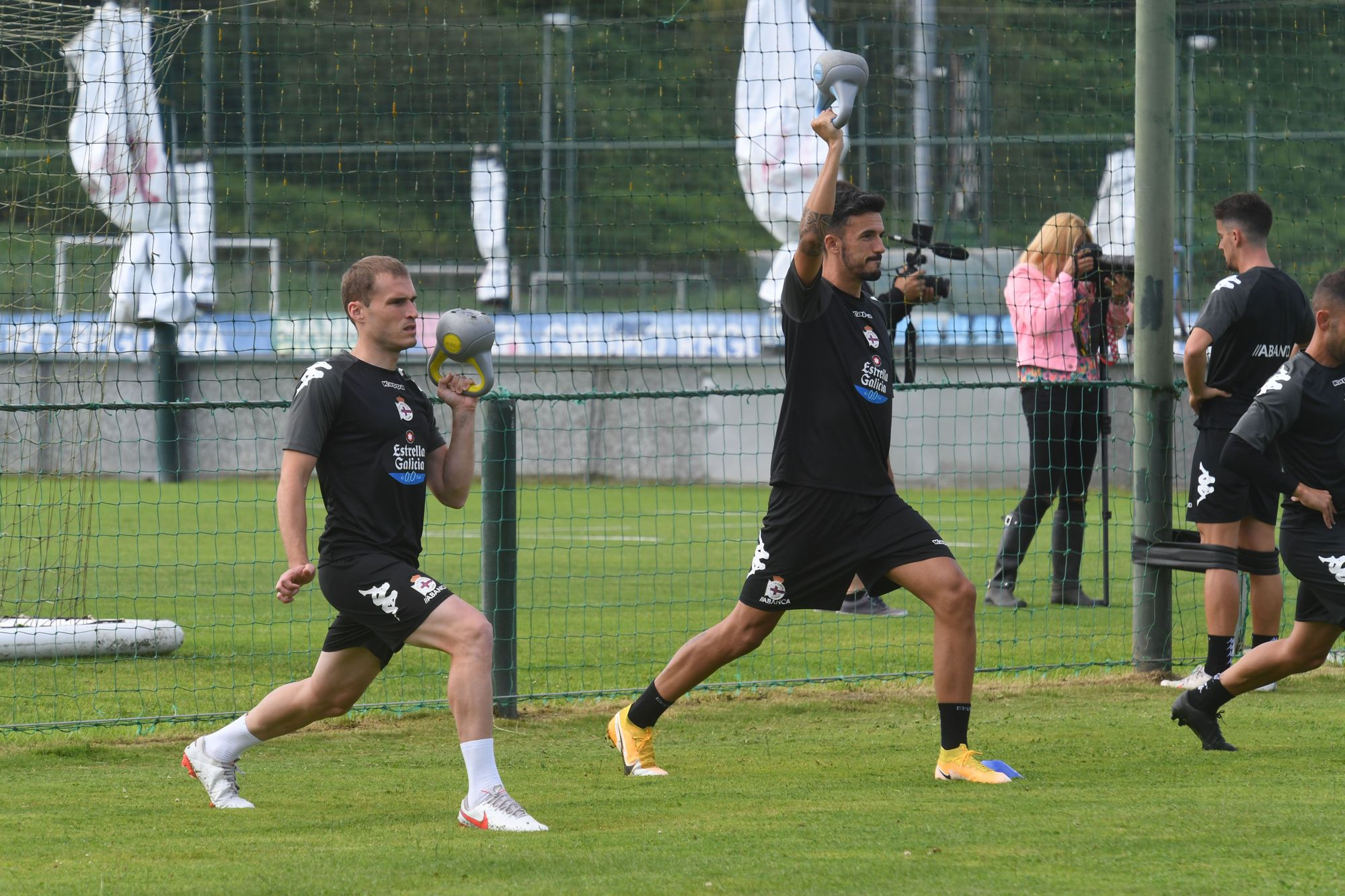 Doble turno de entrenamiento para el Deportivo
