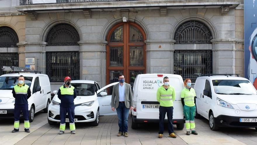 L'Ajuntament d'Igualada compra 4 vehicles elèctrics per a la brigada municipal