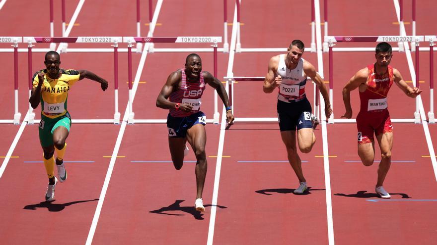Asier Martínez acaba sexto en 110 metros vallas y el jamaicano Parchment gana el oro