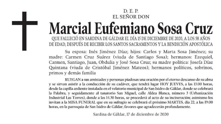 Marcial Eufemiano Sosa Cruz