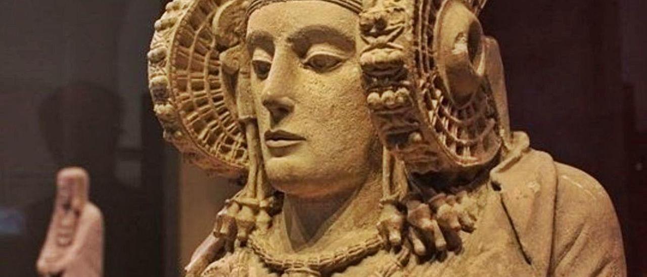 Réplica de la Dama, exhibida en el MAHE.